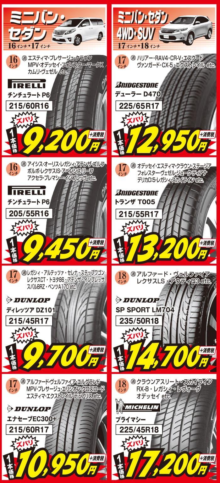 5月_兵庫ビーライン、ミニバンセダン・4WD・SUV用の安いタイヤ