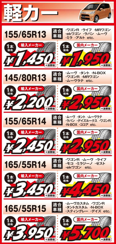 2019年7月_軽カー用の当店最安値タイヤ